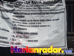 Proyek di Sumberejo Surabaya, Ditanggapi Oleh DPRD Kota Surabaya